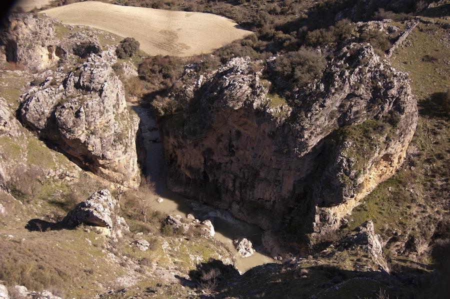 Una vista al cañón desde el mirador
