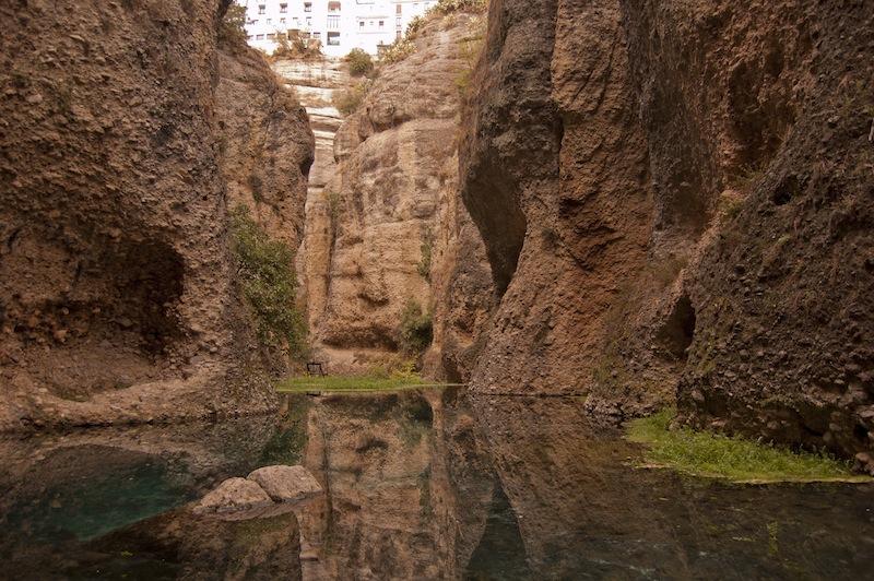 Río Guadalevín desde la Mina del Rey Moro